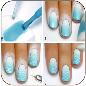 Step by step manicure hands step