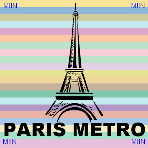 Paris Metro Route Planner-Map metro route train
