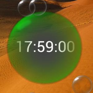 Bubble Clock Live Wallpaper
