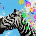 3D Zebra Print Live Wallpaper