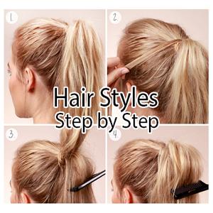 Hair Styles Step by step koleji qibla step