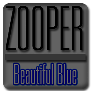 Beautiful Blue - Zooper Widget
