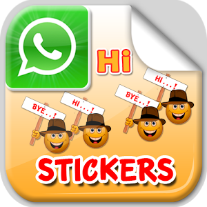 Hi and Bye Stickers comic stickers