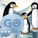 GO SMS Pro Theme Penguins penguins