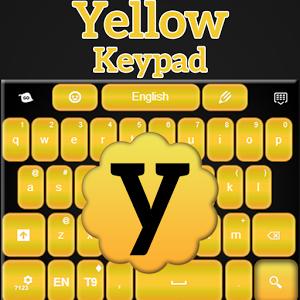 Yellow Keypad for Mobile numeric keypad
