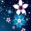 Glitter Of Blue n Pink Flowers