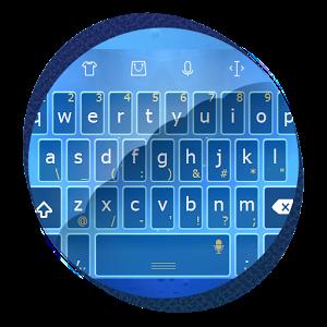 Transparent blue cape TouchPal