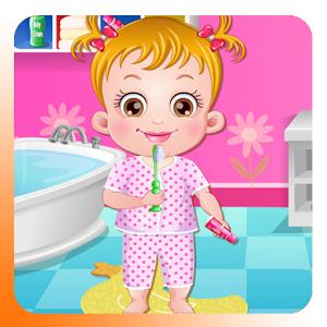 Cute Baby Brushing Time brush brushing