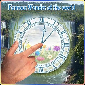 Famous wonder of d world Clock famous theme world