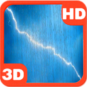Rainy Lightning Storm HD