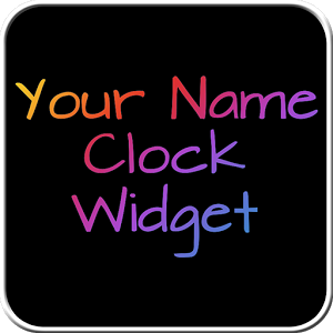 Your Name Clock Widget