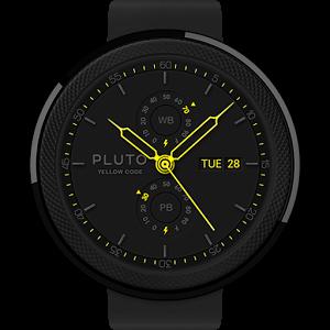 Yellow Code watchface by Pluto numeric keypad