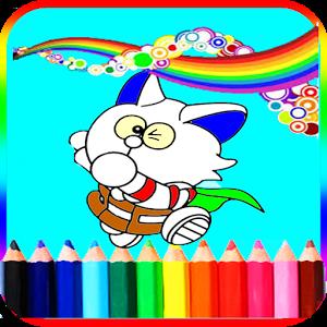 Coloring Kids Game Dore Cat