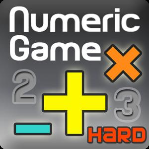 Numeric Game Hard (BrainGame) numeric keypad