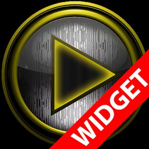 Poweramp widget STEEL I Yellow