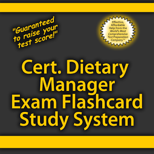 Cert. Dietary Mgr. Flashcards