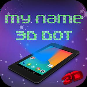 3D Dot Name Live Wallpaper