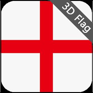 England Flag - High Quality 3D