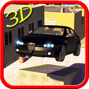 Car stunt 3d Roof Jumping