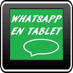 Instalar whatsap en la tablet