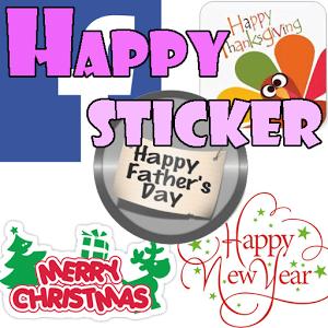 Happy Sticker-Facebook comic happy sticker