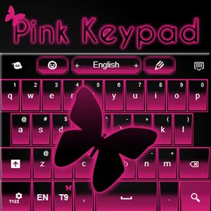 Pink Keypad Free numeric keypad