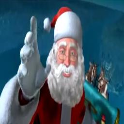 Santa Live Christmas Wallpaper