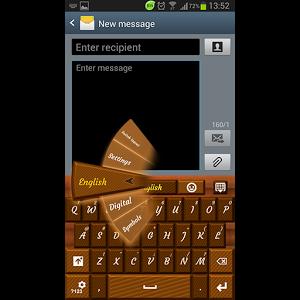 GO Keyboard Dark Chocolate PRO