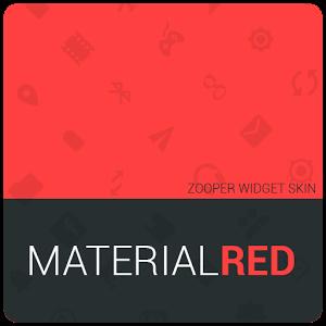 MaterialRed Zooper Widget Skin