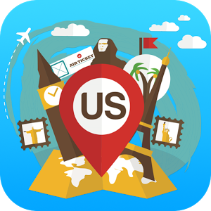USA offline travel guide, map map offline travel