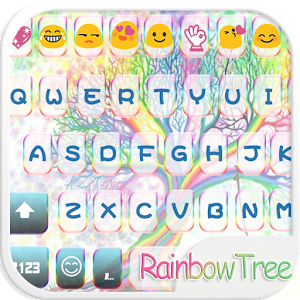 Rainbow Tree Keyboard Theme