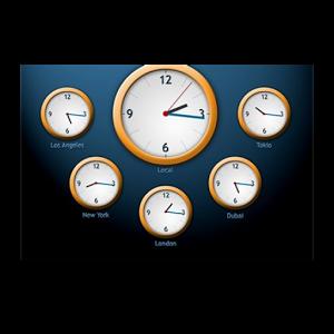 The world clock widget