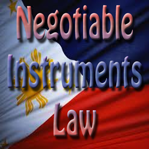 NEGOTIABLE INSTRUMENTS LAW