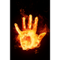 Ghost Fire Palm 3D Wallpaper