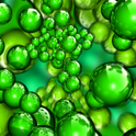Green Bubble Live Wallpaper