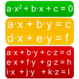 Equation (2nd grade, xy, xyz)