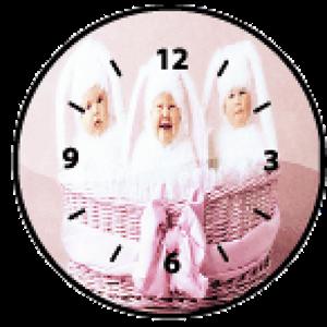 Baby Analog clock widget