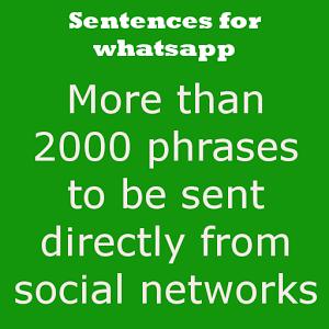Phrases for Whatsapp sentences