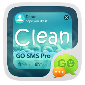 (FREE) GO SMS PRO CLEAN THEME clean sweep free