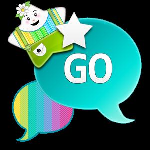 GO SMS THEME|GlowRainbowStar sms