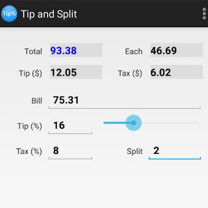 Tip and Split split