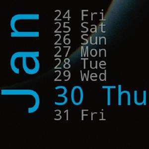 Xperia Calendar Widget