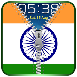 Indian Flag Zipper Lock