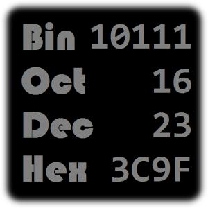 Bin Oct Dec Hex Converter