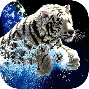 White Tiger HD Live Wallpaper