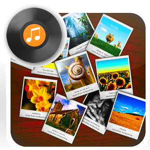 Photo slide show with song photo slide widget