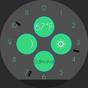 Turquoise Watchface Moto 360