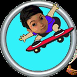 Adit Bermain Skateboard