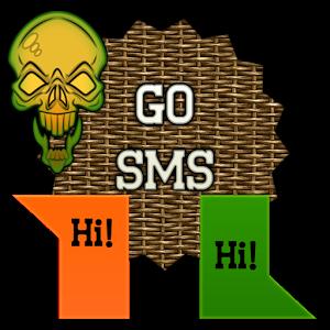 GO SMS - Dark Skulls 2