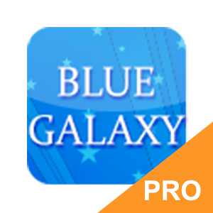 GO Keyboard Blue Galaxy PRO